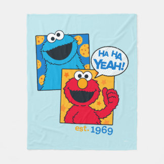 Cookie Monster & Elmo | Ha Ha Yeah Fleece Blanket