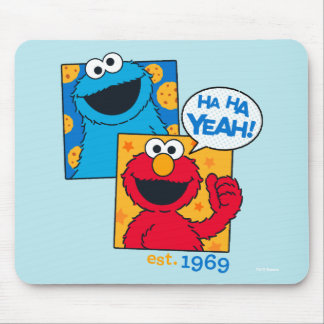 Cookie Monster & Elmo | Ha Ha Yeah Mouse Pad