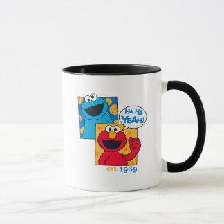Cookie Monster & Elmo | Ha Ha Yeah Mug