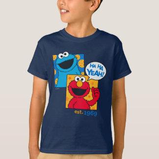Cookie Monster & Elmo   Ha Ha Yeah T-Shirt