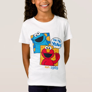Cookie Monster & Elmo | Ha Ha Yeah T-Shirt