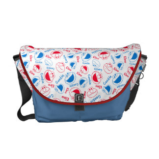 Cookie Monster & Elmo   Red & Blue Pattern Courier Bag