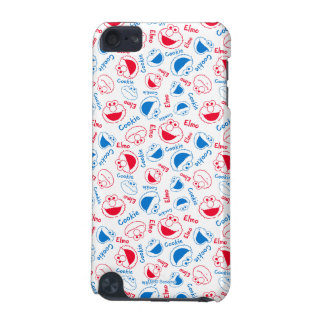 Cookie Monster & Elmo | Red & Blue Pattern iPod Touch 5G Cases