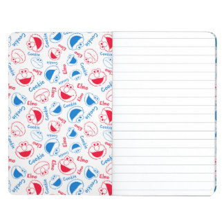 Cookie Monster & Elmo | Red & Blue Pattern Journals