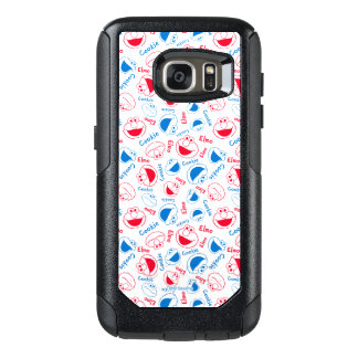 Cookie Monster & Elmo | Red & Blue Pattern OtterBox Samsung Galaxy S7 Case