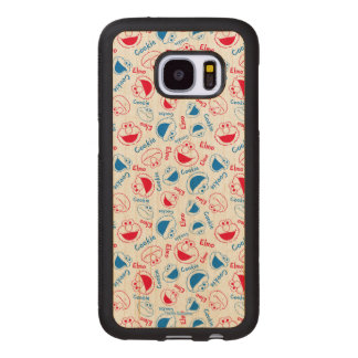 Cookie Monster & Elmo | Red & Blue Pattern Wood Samsung Galaxy S7 Case