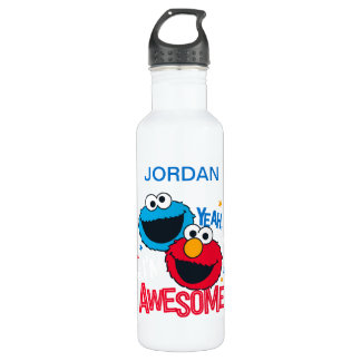 Cookie Monster & Elmo | Yeah, I'm Awesome 710 Ml Water Bottle
