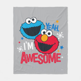 Cookie Monster & Elmo | Yeah, I'm Awesome Fleece Blanket