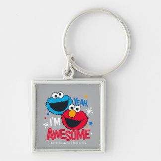 Cookie Monster & Elmo | Yeah, I'm Awesome Keychain