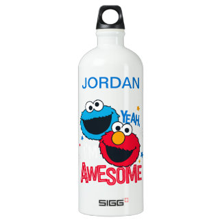 Cookie Monster & Elmo | Yeah, I'm Awesome Water Bottle