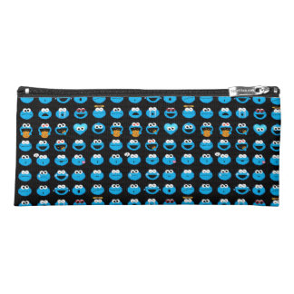 Cookie Monster Emoji Pattern Pencil Case