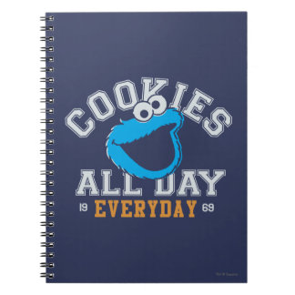 Cookie Monster Everyday Spiral Notebooks