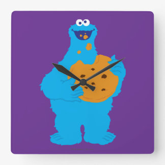 Cookie Monster Graphic Square Wall Clock