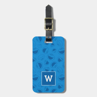 Cookie Monster | Me Awesome Blue Pattern Luggage Tag