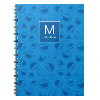 Cookie Monster | Me Awesome Blue Pattern Notebook