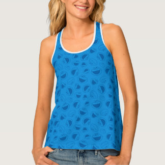Cookie Monster | Me Awesome Blue Pattern Tank Top