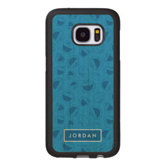 Cookie Monster | Me Awesome Blue Pattern Wood Samsung Galaxy S7 Case