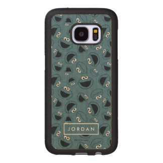 Cookie Monster | Me Hungry Pattern Wood Samsung Galaxy S7 Case