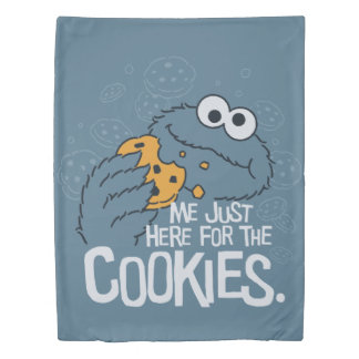 Cookie Monster | Me Just Here for the Cookies Duvet Cover