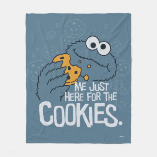 Cookie Monster | Me Just Here for the Cookies Fleece Blanket