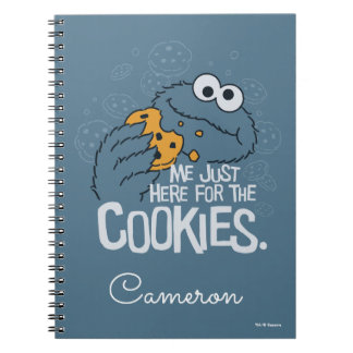 Cookie Monster | Me Just Here for the Cookies Notebook