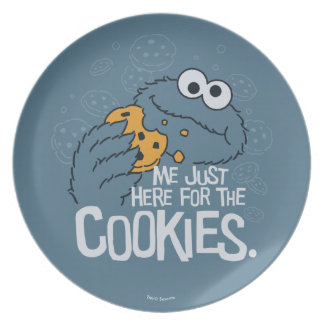 Cookie Monster | Me Just Here for the Cookies Plate