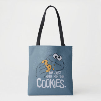 Cookie Monster | Me Just Here for the Cookies Tote Bag