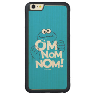 Cookie Monster | Om Nom Nom! Carved Maple iPhone 6 Plus Bumper Case