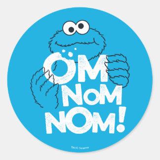 Cookie Monster   Om Nom Nom! Classic Round Sticker