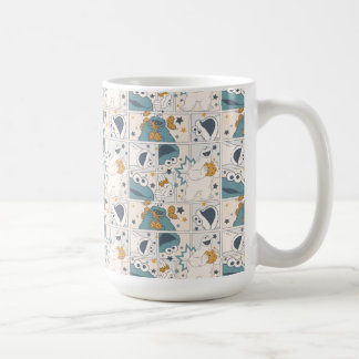 Cookie Monster | Om Nom Nom Comic Pattern Coffee Mug