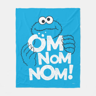 Cookie Monster | Om Nom Nom! Fleece Blanket