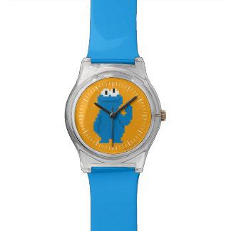 Cookie Monster Pixel Art Watch