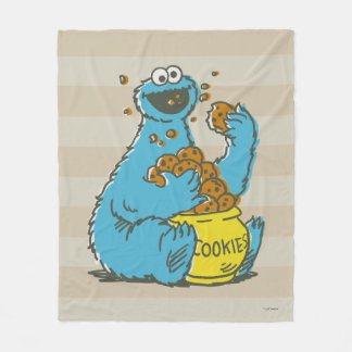 Cookie Monster Vintage Fleece Blanket
