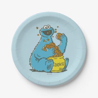 Cookie Monster Vintage Paper Plate