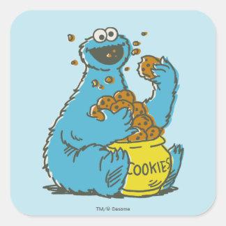 Cookie Monster Vintage Square Sticker