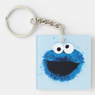Cookie Monster | Watercolor Trend Double-Sided Square Acrylic Keychain