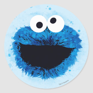 Cookie Monster | Watercolor Trend Round Sticker