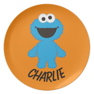 Cookie Monster Wool Style | Add Your Name Party Plates