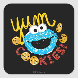 Cookie Monster Yum Square Sticker