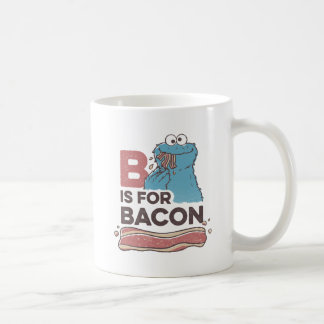 Cookie MonsterB is for Bacon Classic White Coffee Mug