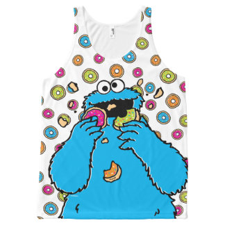 Cookie MonsterDonut Destroyer All-Over-Print Tank Top
