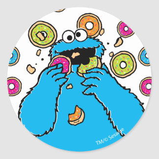 Cookie MonsterDonut Destroyer Classic Round Sticker