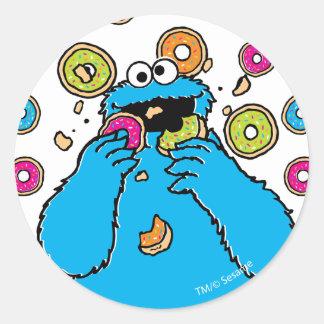 Cookie MonsterDonut Destroyer Round Sticker