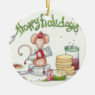 Cookie Mouse Ceramic Ornament