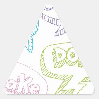 Cookie Pie Cake Donut Speech Bubbles Text Triangle Sticker