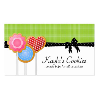 Cookie Pops Green  Business Cards