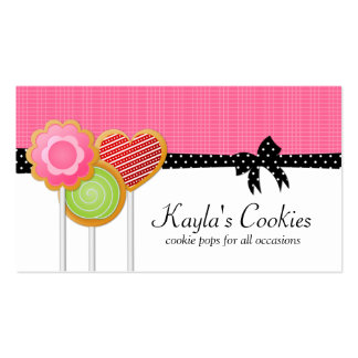 Cookie Pops Pink Business Cards
