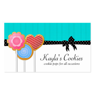 Cookie Pops Turquoise Business Cards
