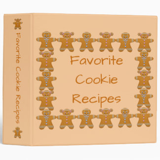 Cookie Recipes~Cook Book~Gingerbread~Customize! Vinyl Binders