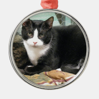 Cookie Silver-Colored Round Ornament